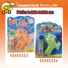 Friction bubble-bubble gun with light one bottle of bubble water