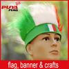 custom elastic synthetic fiber national flag colors fans wig, wholesale headband fans wig for football games