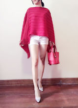 2015 new fashion women's pleats coat big size cloak coat
