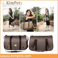 pet accessories good quality leather pet carrier bag
