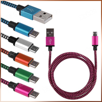 2015 New OEM Aluminum Nylon Braided Fabric USB Data Sync Charging Cable For Iphone 6 Cable With 8 Pin Connector