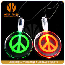LED Glowing Necklace,Flashlight Crystal Led Necklaces made in China Manufacture