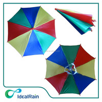 Chinese cheap hats nubrella head hands free umbrella