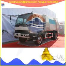Japanese garbage truck supplier for QL1160AMFRY isuzu fvr refuse collector truck 4*2 12 cbm sale in philippines