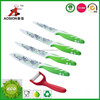 Durable 4 piece knives set including peeler