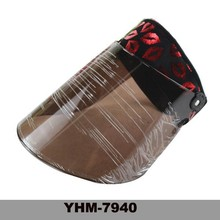 Summer lady large brim bicycle and motorcyle uv protection and dustproof plastic sun visor hat