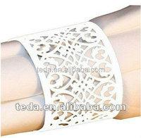 Elegant FILIGREE Wedding Laser Paper Napkin Rings / Lace Holders MANY COLORS