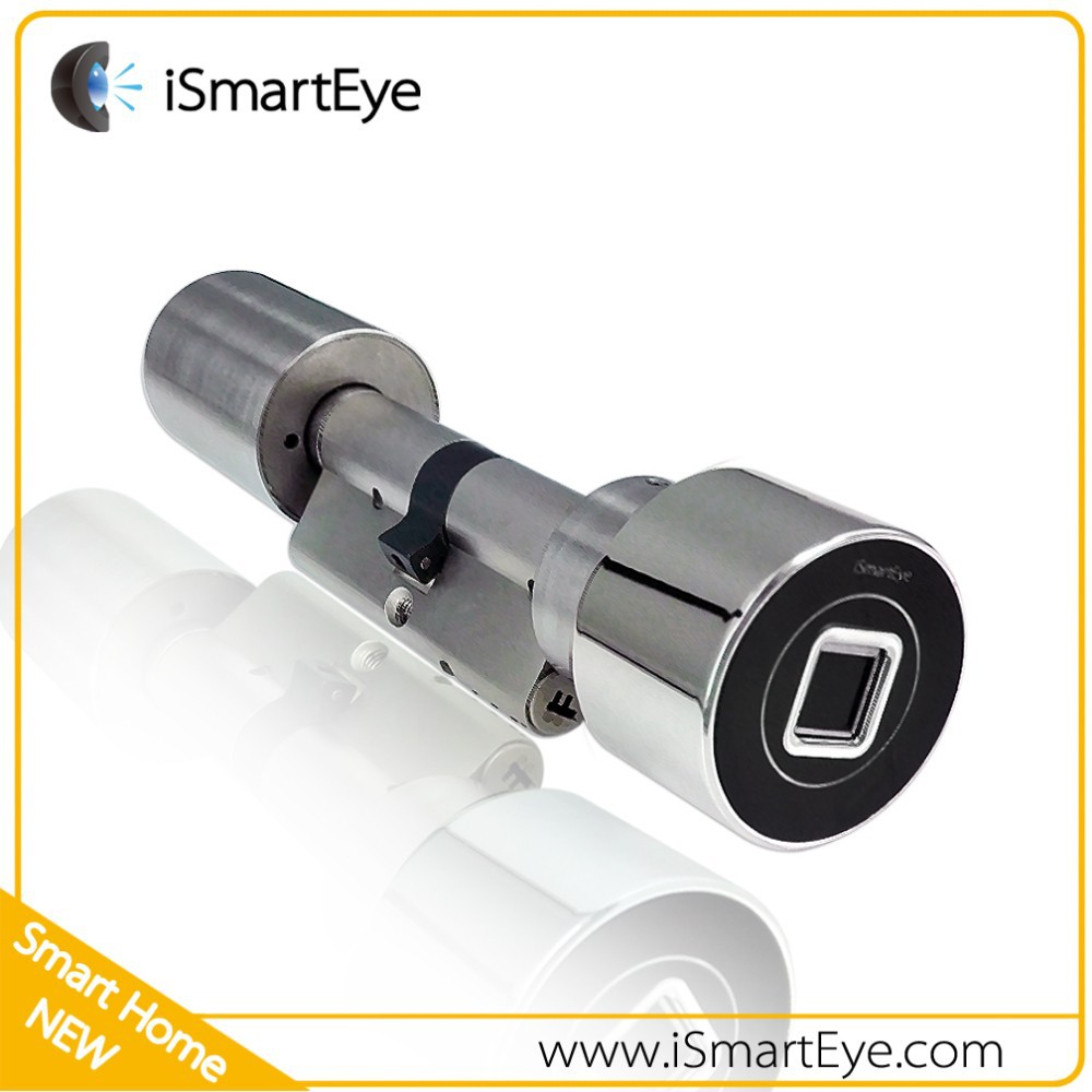 Biometric fingerprint door lock electronic cylinder lock for 1 touch fingerprint door lock