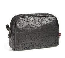 Stylish Black Rose Medium Cosmetics Bag