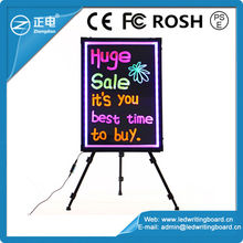 LED writing board new 2015 advertising notice for shops with glowing modes