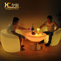 2015 Europe modern dining table chairs sets with light dining furniture