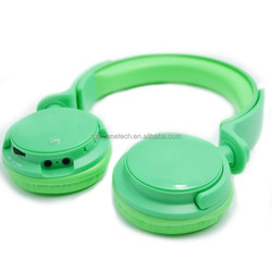 headphones support FM radio built-in long life rechargeable battery