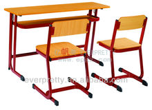 Double School Desk And Chairs Set, Double Student Table, Double Student Desk With Chairs