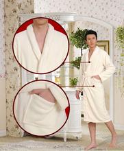 cotton couples hotel knee length bathrobe