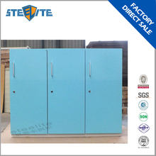 3 single door blue lovely kids wardrobe design steel cabinet clothes locker