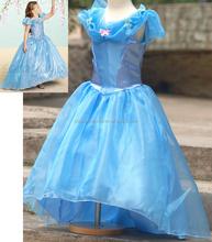 Tizón esponjosa princesa cenicienta vestido, cenicienta vestidos para las muchachas