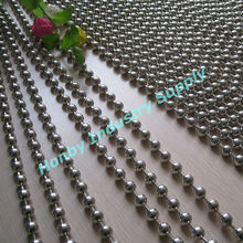 Metal Material Plated Silver Color Decorative Beaded Curtains