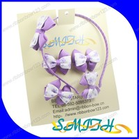 MSD Hair accessories sets ,grosgrain ribbon bow for little girls