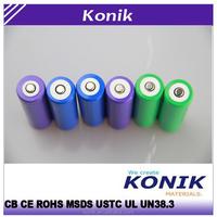 Rechargeable li ion battery 18650 3.7v 2200mah battery cells