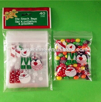 Christmas gift plastic ziplock bags