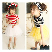 Fashion Striped Chiffon Kids Party Wear Abaya Girl Dress
