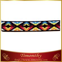 Fashion knitted soft tape jacquard elastic webbing