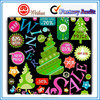 Vector design Fashionable Decorative custom Christmas Sticker for supermarket sales