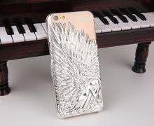 Creative mobile phone accessories 2015 for iphone6 case,mobile phone case for iphone 6,Angel wings design for iphone 6 pc case