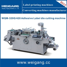 WQM-450 Roll to roll / roll to sheet / label die cutting machine with hot stamping / lamination / punching function