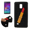 Cute 3D Lipstick Pattern Silicone Phone Case for Samsung Galaxy Note 4 Case