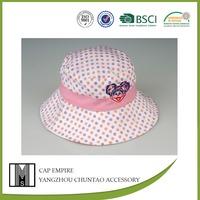 BSCI Audit colored dots promotional embroidered cotton girl and animal sex hat