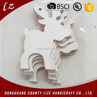 Hot Selling Laser Cutting Wooden Christmas tree decorations