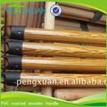 Venta al por mayor del hogar 110 cm largo recubierto de pvc palo de escoba de madera palillos