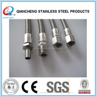 stainless steel braided tube stub hose assemblies lined with PTFE