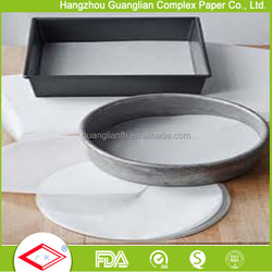 China Factory Round Parchment Paper Circles for Baking Cake/Tin Pan liners Steamer Lining