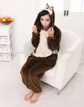 nuevo 2014 adulto unisex pijama traje de cosplay animal onesie ropa de dormir