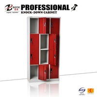 Hot selling KD 12 door metal bench lockers