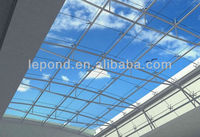 freedom house decorative tempered glass panel railing/glass roof