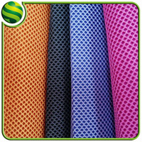 Air permeability 100 polyester mesh fabric for shoes