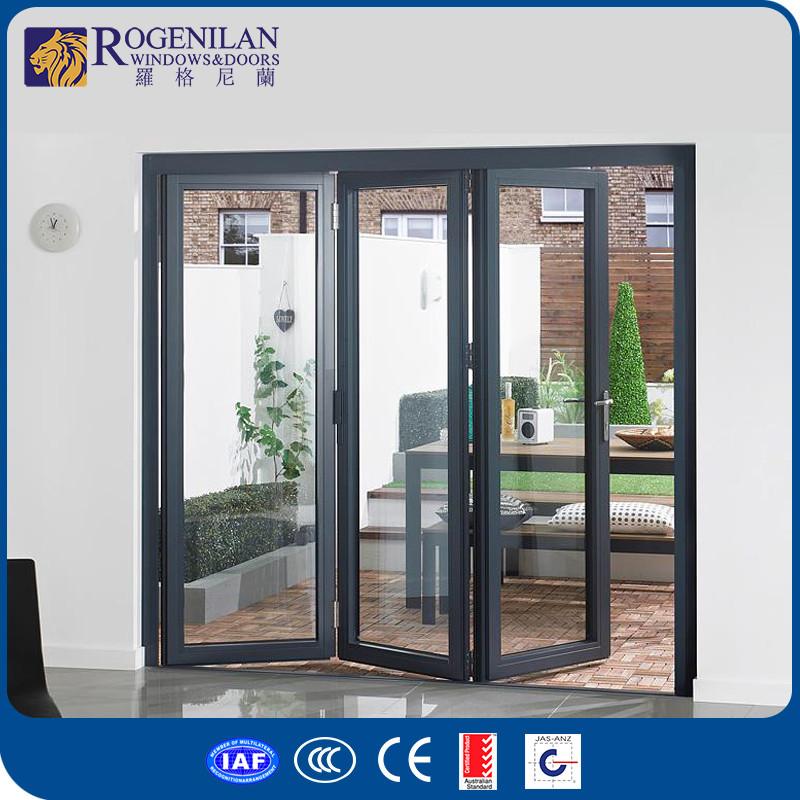 Rogenilan 75 Sliding Aluminium Exterior Glass Accordion Folding Doors
