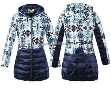 2015 new fashion print down jacket for woman