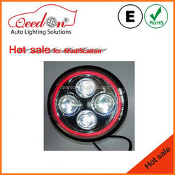 Qeedon economical emark dot black and pink high power cob led car headlight used for harley davidson motorcycles