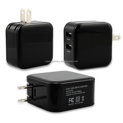 CE&ROHS 2 pack 24W USB Wall Charger with iSmart Technology for Apple iPhone 6 / 6 Plus, iPad Air 2 / mini 3, Samsung Galaxy S6