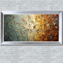Framed painting heavy texture abstract modern flower oil painting