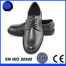 police leader leather shoes