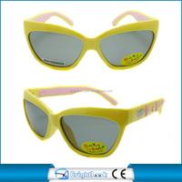 UV400 Yellow frame cat eye cute children sunglasses