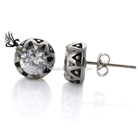 Vintage Earrings Crystal Pave,Shamballa Stud Earrings,Charm Earrings With Antique Silver Plated