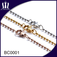 China Factory Supplier Ball Chain Lobster Clasp Necklace