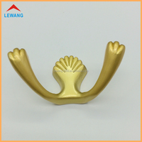 top-rated seller metal wall hooks plated coat and hat hooks for home decoration