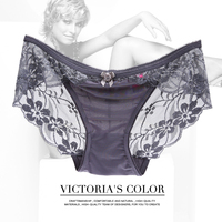 2016 years New design Hot selling Vivian's Secret sexy breathable see-through panties for women